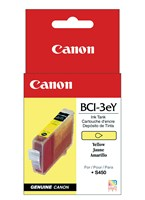 Canon BCI3EY Yellow Ink 340 Yield 4482A003AA