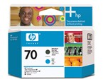 HP 70 Matte Black/Cyan Printhead C9404A
