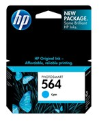 HP 564 Cyan Ink 300 Yield CB318WN