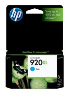 HP 920XL High Yield Cyan Ink 700 Yield CD972AN