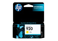 HP 920 Yellow Ink 300 Yield CH636AN