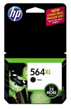 HP 564XL High Yield Black Ink 550 Yield CN684WN
