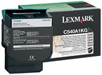 Lexmark Black Return Program Toner 1000 Yield C540A4KG