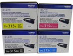 Brother TN315 Set BK C M Y Toners Black 6000/Color 3500 Yield